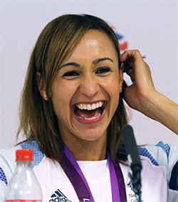 Jessica Ennis with straight hair