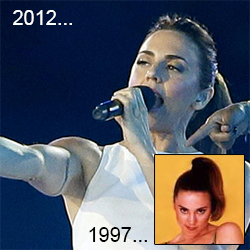 Mel C 2012 and 1997