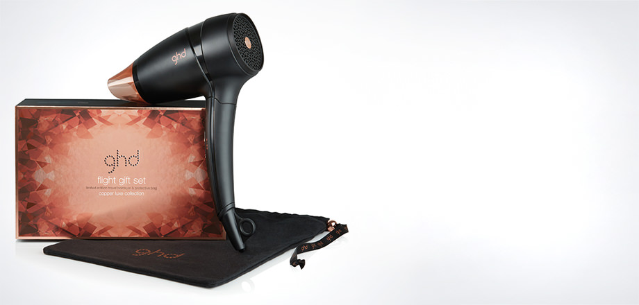 ghd Flight Travel Hairdryer Copper Luxe Gift Set