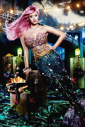 Katy Perry as a mermaid for ghd air